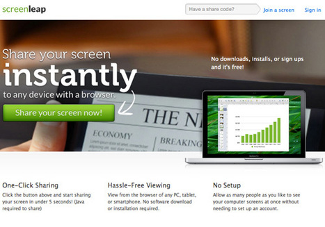 Sharing Desktop Screen On the Fly with Screenleap | Tools You Can Use | Scoop.it