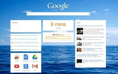 iChrome Is A Customizable, Google Now-Inspired New Tab Page For Chrome | Best Web Apps | Scoop.it
