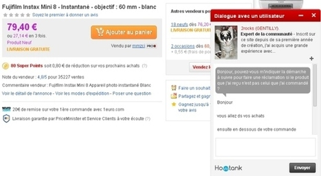 Priceminister-Rakuten déploie un chat communautaire sur ses pages | Marketplace Actus | Scoop.it