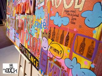 Peinture réalisée lors du Monin ultimate cup | Tarek artwork | Scoop.it