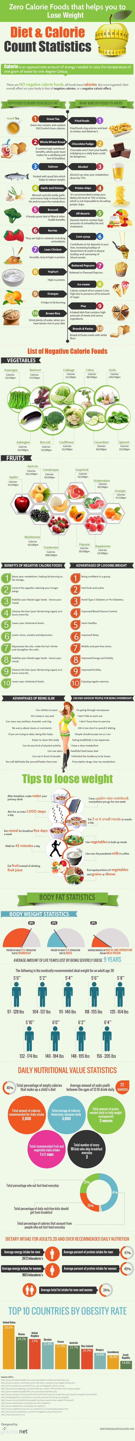 Zero Calorie Foods That Help you to Lose Weight (Infographic) | How Many Calories Counter | Fitness | Scoop.it