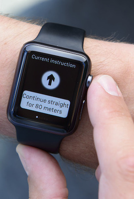 Novartis launches smartwatch navigation app for the visually impaired | mobihealthnews | Salud Publica | Scoop.it