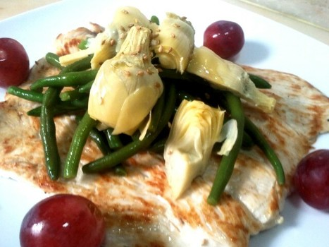 Grilled turkey, green beans,artichokes and grapes | À Catanada na Cozinha Magazine | Scoop.it