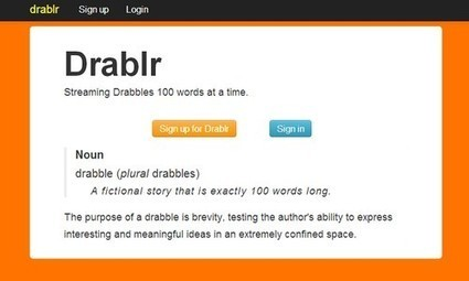 Des micro fictions de 100 mots à autoéditer sur la plateforme Drablr | Bibliothèque | Scoop.it