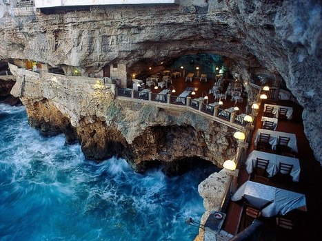 Oceanside restaurant built into a grotto in Italy. - Imgur   Architecture and Design   Scoop.it