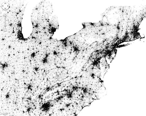 Census Dotmap | Geography Education | Scoop.it