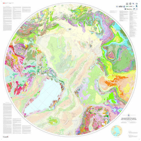 Your New Desktop Wallpaper: A Fetching Geological Map Of The Arctic - io9 | Science&Nature | Scoop.it