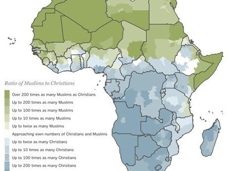 Musulmans et chrétiens, la carte d'Afrique de la division religieuse | Intelligence territoriale et développement durable | Scoop.it
