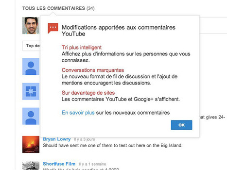 YouTube : les commentaires ont basculé sur Google+ | Geeks | Scoop.it