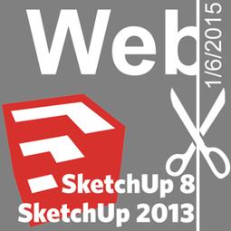 SketchUp 8 et 2013 - Fin annoncée des connexions au web | Ressources pour la Technologie au College | Scoop.it