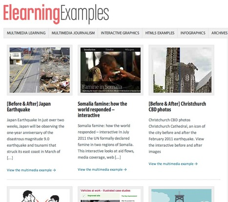 E-learning Examples — Interactive Graphics, Visual Journalism and Multimedia Storytelling | Journalism | Scoop.it
