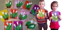 Поделка цветы из ватных дисков на 8 марта | ars | Scoop.it