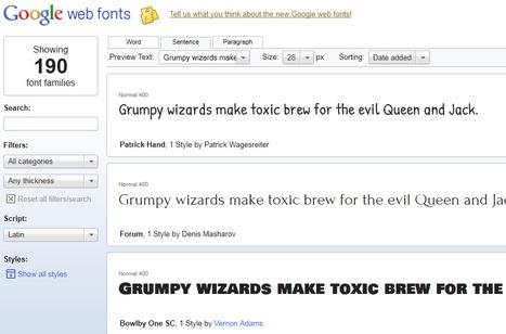 Google Web Fonts   Gotta see it   Scoop.it