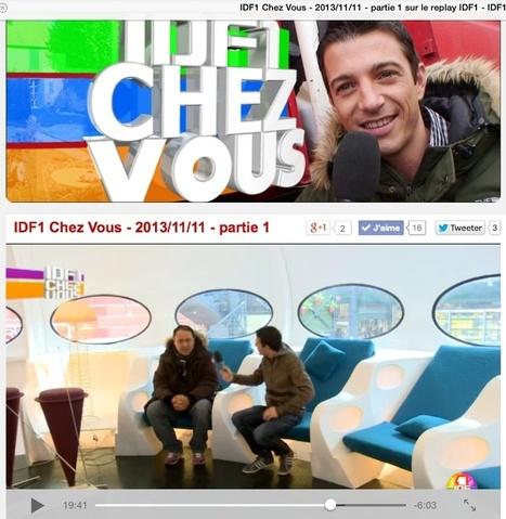 IDF1 Chez Vous – 2013/11/11- La maison Futuro au marché Dauphine   Futuro House by Velvet Galerie.   Scoop.it