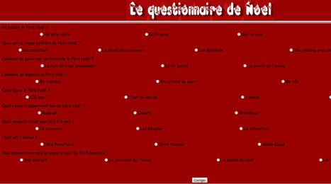 Le questionnaire de Noël | FLE enfants | Scoop.it