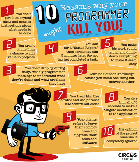 Ten Reasons Why Your Programmer Might Kill You - Circus Social | Awesome Digital and Online Marketing Articles! | Scoop.it