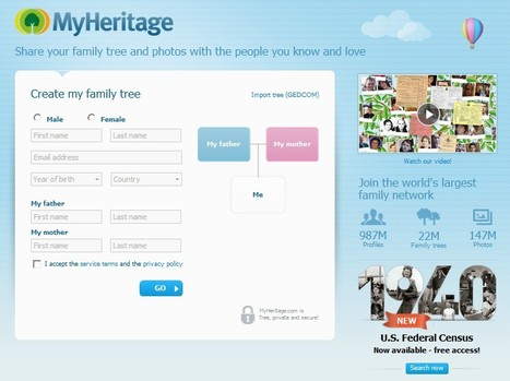 Free Family Tree, Genealogy and Family History - MyHeritage.com | Τάξη 2.0 | Scoop.it