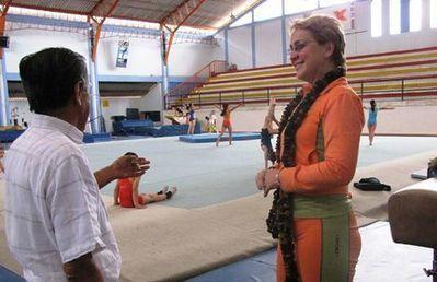 Odalis Cabrera se hace cargo de la gimnasia rítmica en Ecuador