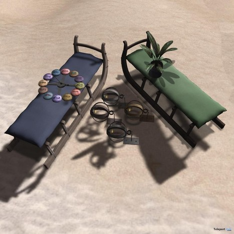 Candle Holder, Clock Button, Sled Seat, and Tinned Plant Tea Group Gift by junk | Teleport Hub - Second Life Freebies | Second Life Freebies | Scoop.it