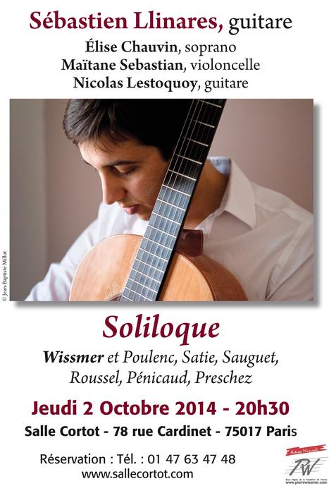 POUR LES MELOMANES CURIEUX         Salle CORTOT, le 2 octobre   :  la musique française pour guitare (s ), voix et violoncelle … Concert original ! | FOLLE de MUSIQUE | Scoop.it
