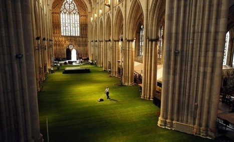 Cathedral Interior Covered in Grass | artesaniaflorae | Scoop.it