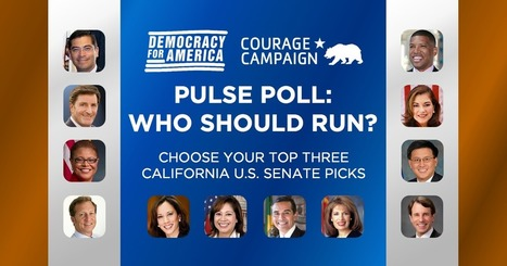 """My top California US Senate choice is..."" 