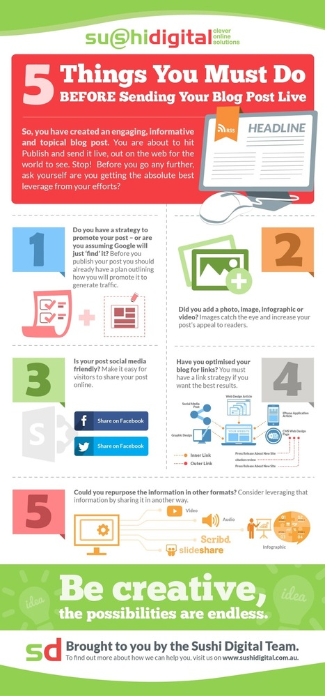 Infographic: 5 Things To Check Before Posting To Your Blog - Tech Impact Blog - Leaders in Non-Profit Technology | Websites | Scoop.it