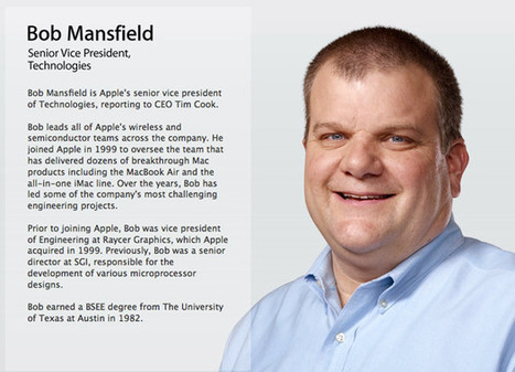 Senior VP Bob Mansfield removed from Apple's leadership page (updated) | Social Knowledge | Scoop.it