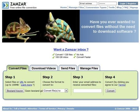 Zamzar - convert document, eBook, image, audio and video - free online file conversion | Educatief Internet | Scoop.it