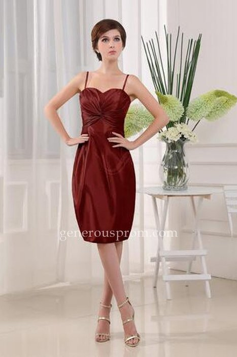 Modern Burgundy Sleeveless Zip up Knee Length Homecoming Dresses - $116.00 : Prom Dresses | Generous Dresses | Prom & Homecoming Dresses | Scoop.it