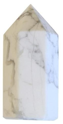 Pointe Polie Hexagonale Howlite Blanche - 3,5 cm - Lot de 3 | Boutique en ligne Sentiers du bien-être | Scoop.it