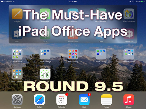 The must-have iPad office apps, round 9.5 | Library Sources | Scoop.it