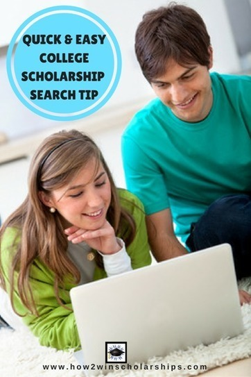 Quick Easy College Scholarship Search Tip | College Scholarships | Scoop.it