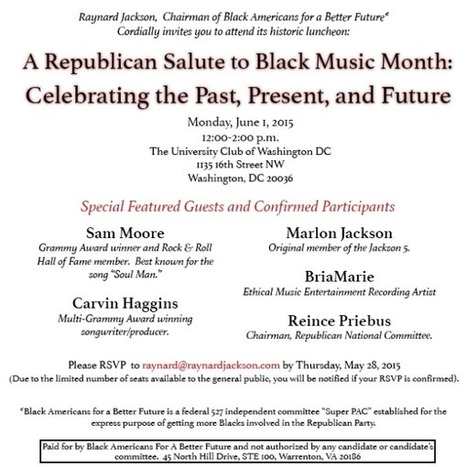 Black Americans For A Better Future invites you to A Republican Salute to Black Music Month | Health and well-being | Scoop.it