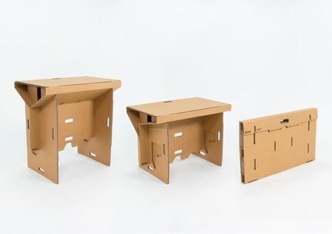 Refold's Portable Cardboard Standing Desk | Creativity | Scoop.it