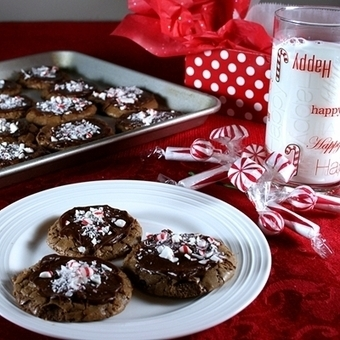 Chocolate Fudge Peppermint Cookies - Recipes, Food and Cooking   Food   Scoop.it