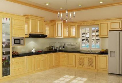 Tủ bếp gỗ Sồi chữ L TB772 - Tủ bếp gỗ đẹp | Mẫu tủ bếp gỗ đẹp | Scoop.it