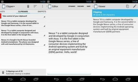 Clipper nos ayuda a archivar todos los textos que copiamos en Android | Recull diari | Scoop.it