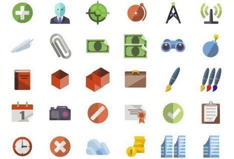Flat icons, impresionante pack con más de 3600 iconos gratuitos - Lukor | Recursos para diseñadores gráficos | Scoop.it