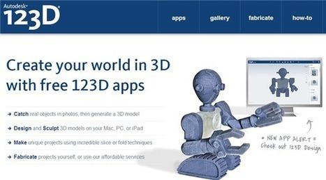 Autodesk 123D, software gratuito de diseño y modelado 3D | Creatividad en la Escuela | Scoop.it