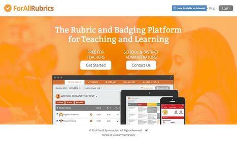 ForAllRubrics: ambiente per la valutazione formativa e la comunicazione con gli studenti - The Rubric & Badging Platform | AulaMagazine Scuola e Tecnologie Didattiche | Scoop.it