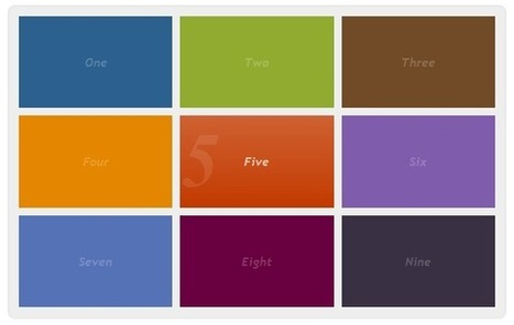 Interactive menu with CSS3 & jQuery | M. Tufail | Scoop.it