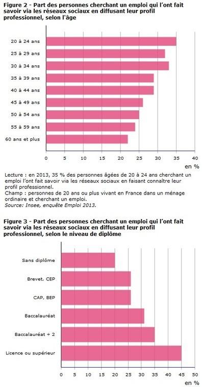 Un tiers des personnes en recherche d'emploi en France ont eu recours aux réseaux sociaux en 2013, selon l'Insee - Offremedia   Emploi 2.0   Scoop.it