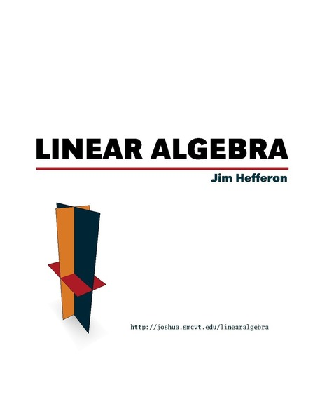 Libro de texto de Álgebra Lineal | Álgebra II | Scoop.it
