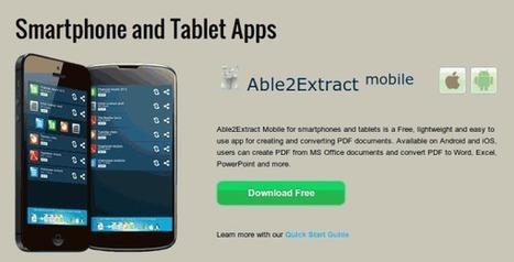 Transformando de PDF a texto, word, excel… desde Android y iOS | apps educativas android | Scoop.it