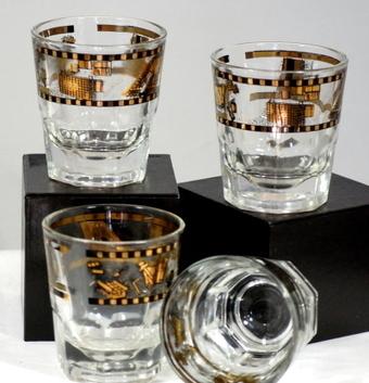 Set Of 4 On The Rocks Vintage Bar Ware Man Cave Masonry Glasses | Vintage Passion | Scoop.it