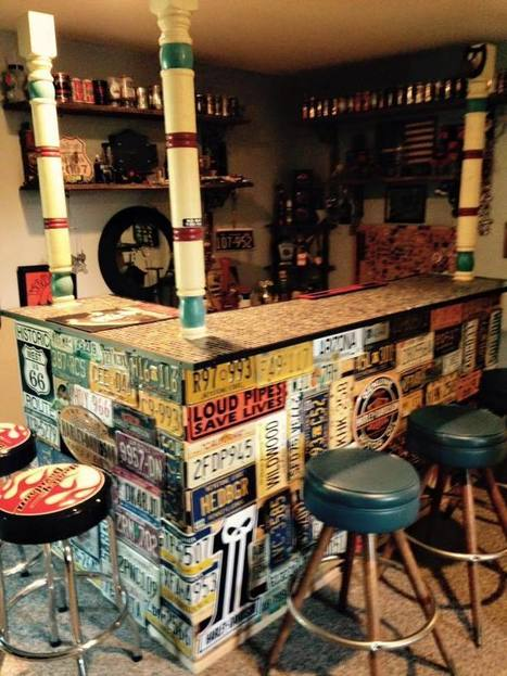 Bar Made from Repurposed Pallets & Car Plates | Upcycled Objects | Scoop.it