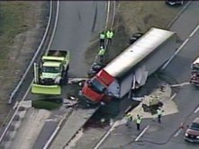 Truck Carrying Syrup Rolls Over On I-95 In Mansfield - CBS Boston | Local Food Systems | Scoop.it