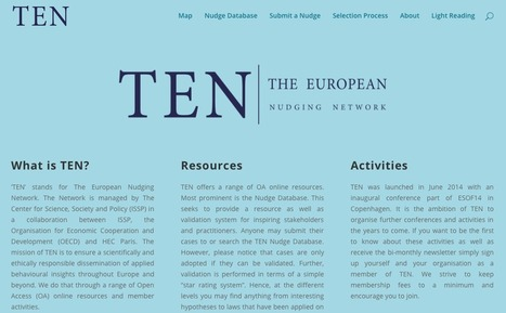 The European Nudging Network - The European Nudging Network | Bounded Rationality and Beyond | Scoop.it