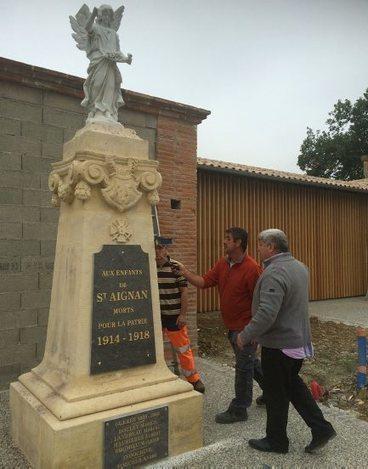 Nouvelles plaques au monument aux morts - ladepeche.fr | monument aux morts 14-18 | Scoop.it
